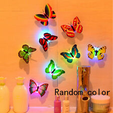 Flashing Cute 3D Butterfly LED Wall Sticker Night Light Lamp Kids Room Decor Toy
