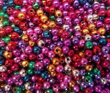 1000 pcs Assorted Metallic Loose Artificial Plastic Pearls 6mm Round Craft Beads