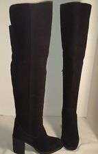 NEW JEFFREY CAMPBELL BLACK RAYLAN OVER THE KNEE SUEDE BOOTS US 6