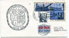 1974 North to Arctic Alaska USCGC Burton Island WAGB-283 Polar Cover SIGNED