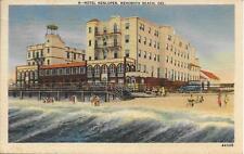 Hotel Henlopen Rehoboth DE nice postcard postally used in 1940