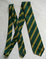 BNWOT NEW BOYS TIE MOD CASUAL AGE 10-18 CLUB SCHOOL STRIPED GREEN YELLOW STRIPES