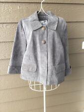 Tria womens grey suede leather jacket size S