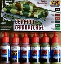 AK Interactive German Camouflage Modulation Acrylic Paint Set For Models