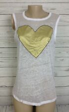CHASER Gold Heart tanks top size Medium