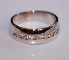 Ladies' 1/2 TCW Diamond Band Ring in 14K White gold size 7.75