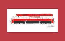 "Frisco SD45 11""x17"" Matted Print Andy Fletcher signed"