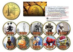 NYC THANKSGIVING DAY PARADE New York State 24K Gold Quarters 10-Coin Ballon Set