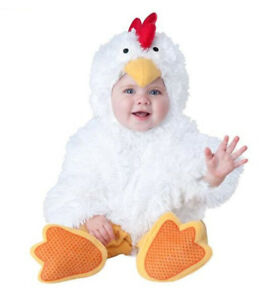 Chicken Cartoon Halloween Xmas Baby Toddler Costume Outfit Romper Cosplay Suit @