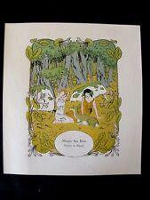 Muses des bois  parfum de Rigaud  Carlègle  rare planche publicitaire 1913