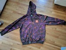 LRG Lifted Research Group mens purple full camo shell hoodie zip XL snowboard
