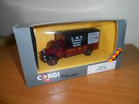 Corgi 97120 Bedford O Van LMS Parcels 1/50 Scale Black+maroon New +unused