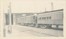 1941 Lake Erie & Northern RR , ONT Canada Trolley No 953 & 797 at barn   Photo