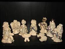 11 Set Vintage Handmade Pottery Nativity Christmas Jesus Mary Joseph Sheep Camel
