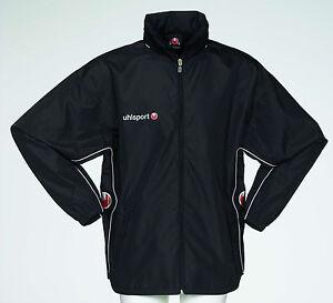 "Uhlsport Rain Jacket Waterproof Coat Training Black Navy XS Adults 30 32"" Chest"