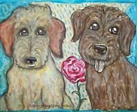 ACEO LABRADOODLE Doodle Darlings Dog Collectible Signed Art Card Print 2.5x3.5
