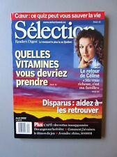"""Selection Reader's Digest Magazine Avril 2002 """"Le Retour de Celine- ? Vitamines"""