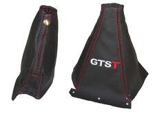 "Gear & Handbrake Boot For Nissan Skyline R33 1993-1999 Leather ""GTST"" Red Logo"
