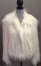 MSRP $389 LOVELY LUXE CACHE SHEEP INSPIRED S/M FAUX FUR JACKET