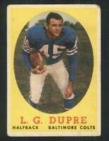 1958 Topps #117 L.G. Dupre VG/VGEX Colts 71348