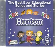 THE BEST EVER EDUCATIONAL SONGS & STORIES PERSONALISED CD - HARRISON - ABC 4 ME