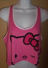 Sz L Hello Kitty PJ or Tank Top Juniors nwt Pink Racerback