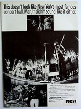 LIGHTHOUSE 1969 Poster Ad DEBUT ALBUM New York's Village Gate fillmore east