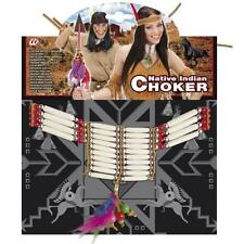 Red Indian Native Chioker Necklace Pocahontas Village Chief Fancy Dress