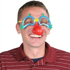 Clown Glasses with Nose Costume Prop Accessories Circus Birthday Party Decor