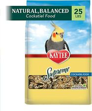 Kaytee Supreme Bird Food For Cockatiels 25-Lb Bag Pet High Quality Us Seller New
