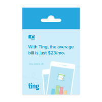 Ting GSM SIM card – Average monthly bill is $23. No contract, Universal SIM