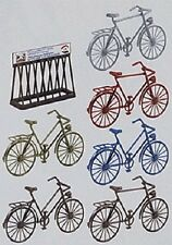 Pola G scale SIX BICYCLES w/ Bike Rack KIT  # 331755 ( Ships from Chicagoland )