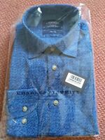 Charles Tyrwhitt Men's slim fit shirt blue New in packet. Collar 15.5 Med