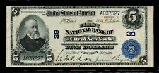 1902 $5 Large Size National Banknotes New York