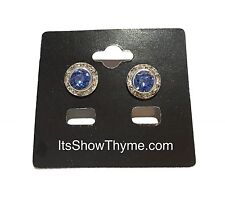 Horse Show Earring, Pageant Earrings, Fashion Earrings - Sapphire