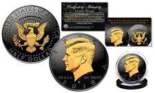 Black RUTHENIUM 2018 JFK Half Dollar U.S. Coin w/ 2-SIDED 24K Gold (Denver MINT)
