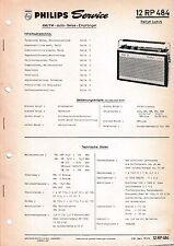 Service Manual-Anleitung für Philips 12 RP 484,Rallye Luxus