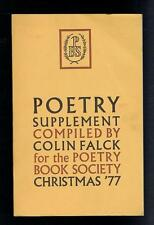 Falck, Colin; Poetry Supplement Christmas '77 Good