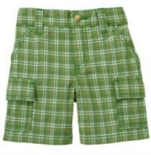NWT Gymboree Little Tractor Co. Green Plaid Shorts Boy's 6-12M