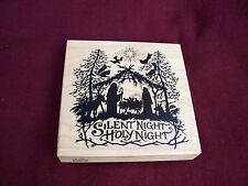 PSX Silent Night Holy Night nativity large mounted unused stamp K-1196