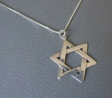 Large Star of David Pendant Sterling Silver 925 Jewish Jewellery & Silver Chain