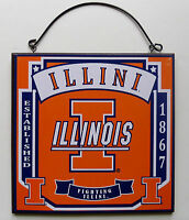 New Illinois University College Illini Licensed Wooden Sign Fan Sports Team