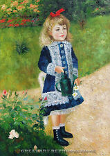 """""""A Girl with a Watering Can"""", Pierre A. Renoir, Reproduction in Oil, 40""""x29"""""""