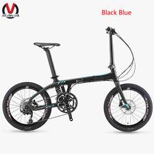 SAVA Z1 20'' Foding Bike T700 Carbon Fiber Frame Bicycle Mini Foldable 9S Blue