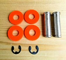 TATTOO MACHINE COIL CORES 2 X 32MM M4 THREAD 1018 STEEL + WASHERS + CLIPS