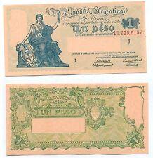 ARGENTINA NOTE 1 PESO (1944) GAGNEUX-BOSCH SERIAL J B# 1826 P 251c AU