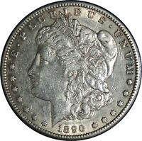 1890-S $1 MORGAN SILVER DOLLAR  XF/AU DETAILS  CLEANED / CULL COND.  041421013