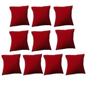 10Pcs Storage Holder Velvet Small Pillow Bracelet  Watch Jewelry Display Cushion