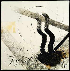Kunst in der DDR/Informel 1989. Mischtechnik Ralf KLEMENT (*1950 D) handsigniert