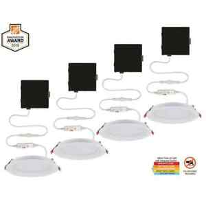 Slim Baffle 4 in. Color Selectable New Construction and Remodel Canless Recessed